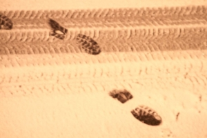 Spuren im Schnee - Akquise auf dem Weg zum Kunden