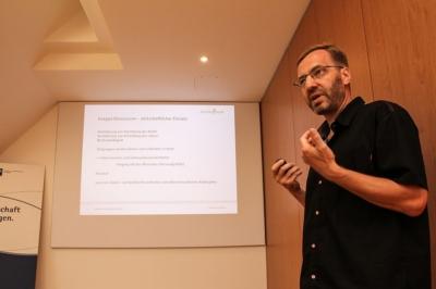 Thomas Kujawa beim WS Lebensfreundliches Unternehmen bei der IHK Leipzig