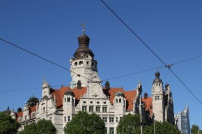 Auf dem Bild: Leipzig, neues Rathaus - Titel: Fachkräfteallianzen der Region Leipzig
