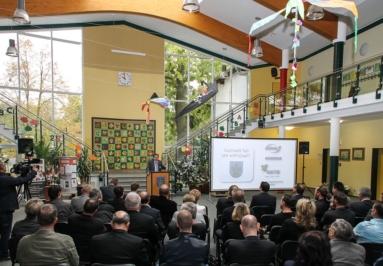 Taucha, erster Tag der Wirtschaft - Claus Gröhn, Präsident der Handwerkskammer zu Leipzig