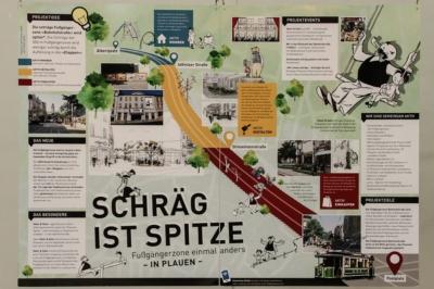 """Erster Preis Ab in die Mitte 2016 - Projekt der Stadt Plauen """"Schräg ist Spitze"""""""