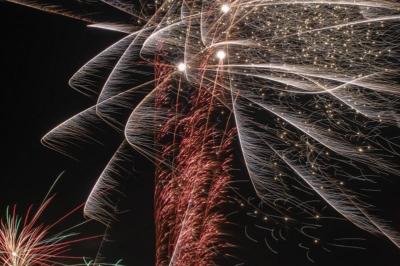 Eilenburg - Silvester 2016, Feuerwerk zu Null Uhr in der Stadt