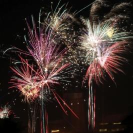 Eilenburg - Silvester 2016, Feuerwerk in der Stadt