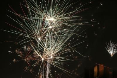 Eilenburg - Silvester 2016 - Willkommen 2017, Feuerwerk in der Stadt