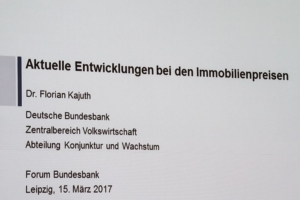 Vortrag beim Forum Bundesbank in Leipzig - Immobilienpreise und deren Entwicklung in Deutschland
