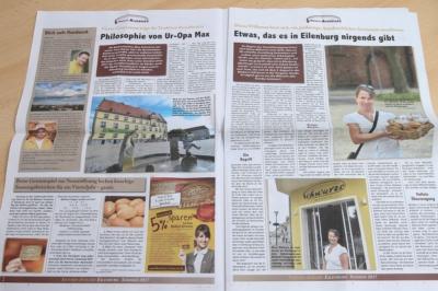 Die Kundenzeitung der Bäckerei & Konditorei Schwarze aus Bennewitz, das SchwarzeBrotblatt, hier ein Blick in die Sonderausgabe zur Eröffnung der Filiale in Eilenburg