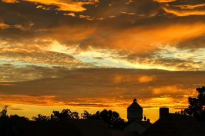 Eilenburg - Morgenhimmel zur Sommersonnenwende