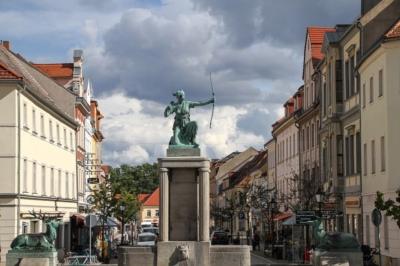 In Großenhain am Markt, Blick zum Frauenmarkt - Workshop Fachkräftesicherung LK Meißen