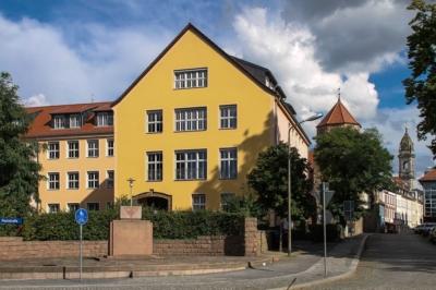 Großenhain - Workshop zum Thema Fachkräftesicherung im Landkreis Meißen - An der Poststraße, Blick zur Innenstadt
