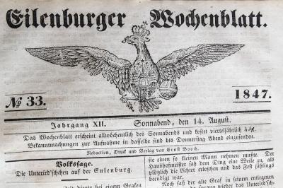 Eilenburger Wochenblatt - NR 33 1847 - Volkssage der Heinzelmännchen oder des kleinen Volkes Hochzeit