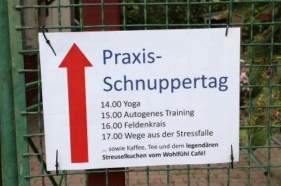 Eilenburg - Praxisschnuppertag, Autogenes Training und andere Gesundheitswelten