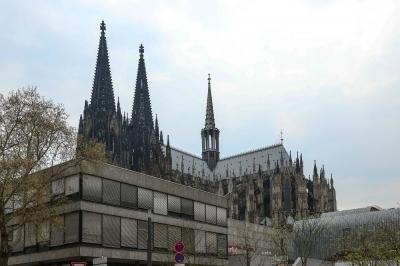 Kölner Dom und moderne Architektur
