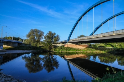 Eilenburg - Muldebrücke der Bundesstraße 87 und Eisenbahnbrücke