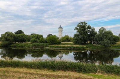 Eilenburg - Wasserturm an der Vereinten Mulde