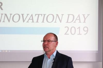 """HR Innovation Day 2019 an der HTWK in Leipzig - Wolfgang Göbel eröffnet mit seiner bewegenden Rede den """"offiiellen Teil"""""""
